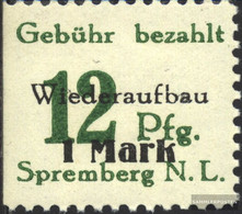 Spremberg (Lower) 22A IX, Smear Of N Suspended Unmounted Mint / Never Hinged 1946 Numbers - Soviet Zone