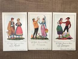 7 Cartes Les Vieilles Provinces De France Farines Jammet - Postcards
