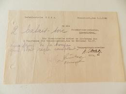 Militaria - Armentières (59) - Document écrit En Allemand - Standortkommandantur D'Armentières - 1943 - Documenti Storici