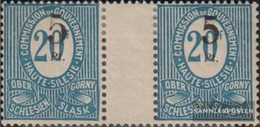 Silesia 10b ZW Between Steg Couple With Hinge 1920 Numbers - Germany