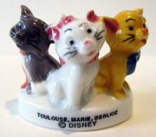 Fève Brillante - Les Chats De Disney : Toulouse, Marie Et Berlioz - Disney