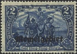 Memelgebiet 12 Con Fold 1920 Stampa Edizione - Memel (Klaïpeda)