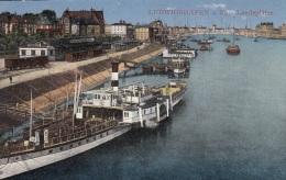 Rhein-Dampfer Mit Bahnanlagen In Ludwigshafen,ungelaufen - Steamers
