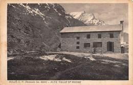 """08551 """"(AO) ALTA VALLE DI RHEME - RIFUGIO G. F. BENEVOLO M. 2300""""  ANIMATA, NEGATIVO L. MARTINI. CART  NON SPED - Italia"""