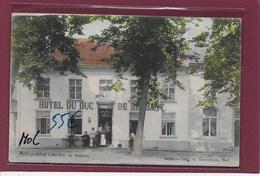 MOL : GEKLEURD-HOTEL DU DUC DE BRABANT-MET VOLK - Mol