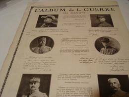 ANCIENNE PUBLICITE L ALBUM DE LA GUERRE 1922 - Publicité