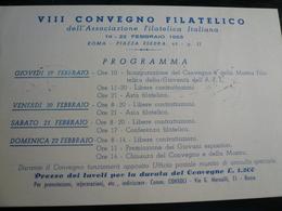 Roma Programma 8° Convegno 1953  Cartolina + Annullo - 6. 1946-.. Repubblica