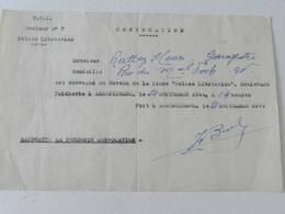 Militaria - Armentières (59) - Document De Convocation De La Police Libération - 1944 - Documents Historiques