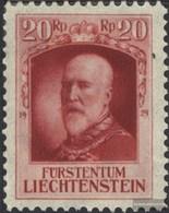 Liechtenstein 91 MNH 1929 Prince Franz I. - Ungebraucht