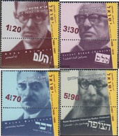 Israel 1706-1709 With Tab (complete Issue) Unmounted Mint / Never Hinged 2002 Political Journalists - Israel