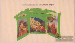 Israel 1528-1531 MH (complete Issue) Stamp Booklet Unmounted Mint / Never Hinged 1999 Jewish Holidays - Israel