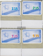 Israel 1493-1496 With Tab (complete Issue) Unmounted Mint / Never Hinged 1998 National Flag - Israel