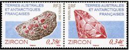 """TAAF YT 578 & 579 Paire """" Minéraux """" 2011 Neuf** - Ungebraucht"""