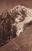 """08553 """"(AO) COURMAYEUR -AIG. NOIRE DE PETERET M. 3780 E MONTE BIANCO M. 4841"""" CART SPED 1932 - Italia"""