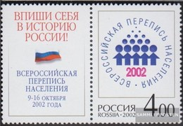 Russland 1019Zf Con Allunga (completa Edizione) MNH 2002 Censimento - Nuovi