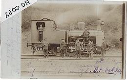CARTE-PHOTO LOCOMOTIVE HUMBOLDT - GARE DE METZ  1908 (cp27) - Trains