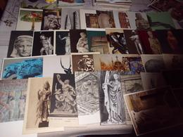 LOT DE 60 CARTES SCULPTURES...OBJETS D'ART..ETC - Cartes Postales