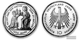 FRD (FR.Germany) Jägernr: 475 2000 G Stgl./unzirkuliert Silver Stgl./unzirkuliert 2000 10 DM Aix-la-Chapelle - [10] Commemorations