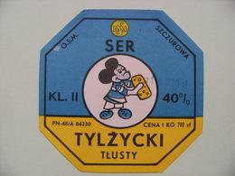 Etiquette Fromage Fondu - Portion 1220g Mickey SER Tylzycki - Pologne  A Voir ! - Cheese