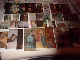LOT DE 58 CARTES ART ..PEINTURES...TABLEAUX - Postcards