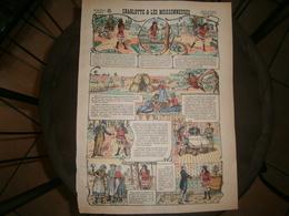 ANCIENNE PLANCHE  CHARLOTTE ET LES MOISSONNEUSES N 3  IMAGERIES REUNIES DE JARVILLE NANCY VERS 1890/1900 - Collections