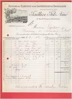 PAPIERS ET CARTONS POUR IMPRESSION 1899 FAILLON 37 RUE SAINTE CROIX DE LA BRETONNERIE A PARIS USINE A CONTY SOMME - Stamperia & Cartoleria