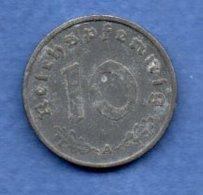 Allemagne  -  10 Reichspfennig  1940 A -  Km # 101 -  état  TB+ - [ 4] 1933-1945 : Third Reich