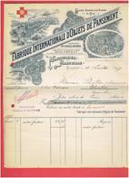 FACTURE 1899 FABRIQUE INTERNATIONALE D OBJETS DE PANSEMENT MONTPELLIER ET MARSEILLE PHARMACIE - Francia