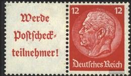 Deutsches Reich W85 Usato 1939 Hindenburg WZ 4 - Se-Tenant
