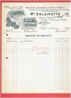 MANUFACTURE INSTRUMENTS DE CHIRURGIE MAISON DELAMOTTE 68 RUE JEAN JACQUES ROUSSEAU A PARIS FABRIQUE DE BON SECOURS - Francia
