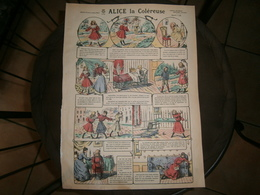 ANCIENNE PLANCHE  ALICE LA COLEREUSE  N 28      IMAGERIES REUNIES DE JARVILLE NANCY VERS 1890/1900 - Collections