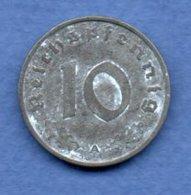 Allemagne  -  10 Reichspfennig  1943 A -  Km # 101 -  état  TB+ - [ 4] 1933-1945 : Third Reich