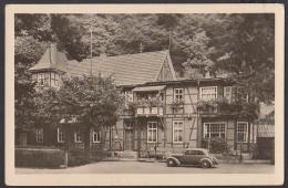 """Trusetal Gaststätte """"Zum Trusentaler Wasserfall"""" Pensionshaus Fotokarte 1954 - Schmalkalden"""