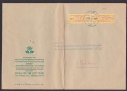 ZKD-Brief Cottbus Regierung VEAB Doppelbrief Mit ZKD-Streifen 17C, Linke Marke Links Mit 3 Mm Riss - Service