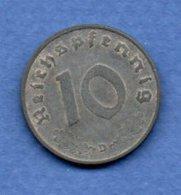 Allemagne  -  10 Reichspfennig  1940 D -  Km # 101 -  état  TTB - [ 4] 1933-1945 : Third Reich