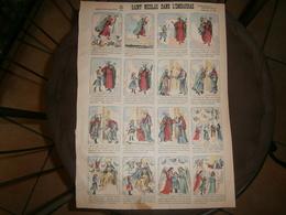ANCIENNE PLANCHE  SAINT NICOLAS DANS L EMBARRAS N 48      IMAGERIES REUNIES DE JARVILLE NANCY VERS 1890/1900 - Old Paper