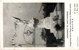 4337-2018  MONUMENT DE ST PATERNE  INAUGARATION DE LA PLAQUE EN L HONNEUR DU GENERAL LECLERC - France