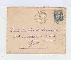 Sur Enveloppe Type Sage 15 C. Bleu. Oblitéré CAD St Jean De Brunel Aveyron 1898. (698) - Marcophilie (Lettres)