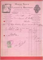 ALBERT BLOCH 1899 CLASSEUR SHANNON POUR LETTRES FACTURES A PARIS - Francia