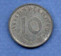 Allemagne  -  10 Reichspfennig  1940 G -  Km # 101 -  état  TB+ - [ 4] 1933-1945 : Third Reich