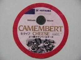 Etiquette Camembert - YOTSUBA - Cheese Hokkaido Tokachi Export - Japon  A Voir ! - Cheese