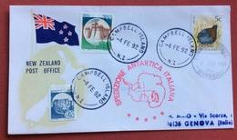 SPEDIZIONE ANTARTICA ITALIANA  NEW ZELAND CAMPBELL ISLAND  + WANGANU  4/2/92 - Francobolli