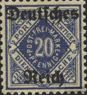 Deutsches Reich D55X MNH 1920 Württemberg Stampa - Deutschland