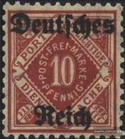 Deutsches Reich D53 MNH 1920 Timbro Ufficiale - Deutschland