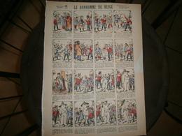 ANCIENNE PLANCHE  LE BONHOMME DE NEIGE N 15      IMAGERIES REUNIES DE JARVILLE NANCY VERS 1890/1900 - Collections