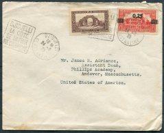 1939 Algeria Djidjelli Cover - Phillips Academy, Andover, Mass. USA - Algeria (1924-1962)