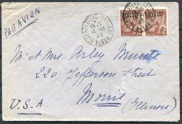 1945 Algeria Airmail Cover - USA - Algeria (1924-1962)
