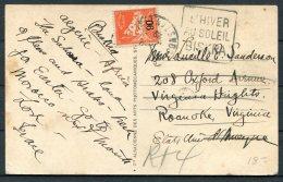 1929 Algeria Camel Postcard - Roanake Virginia USA. 90c Provisional - Algeria (1924-1962)