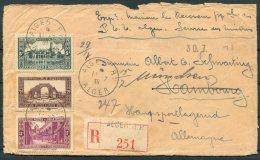 1939 Algeria Alger Registered Cover - Germany. Hamburg Redirected Munchen - Algeria (1924-1962)
