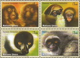 UN - Geneva Mi.-number.: 561-564 Block Of Four (complete Issue) Unmounted Mint / Never Hinged 2007 Primaten - Geneva - United Nations Office